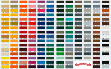 Color Swatch Aluminum Color Chart