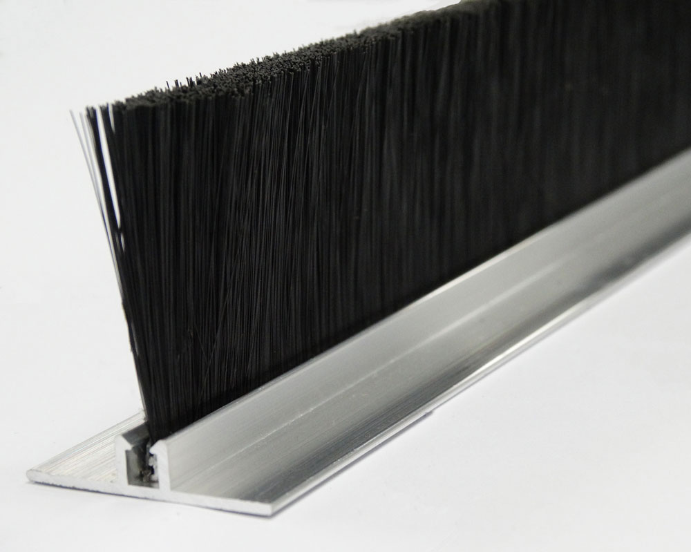 Nylon Brush With Galvanized Steel Channel